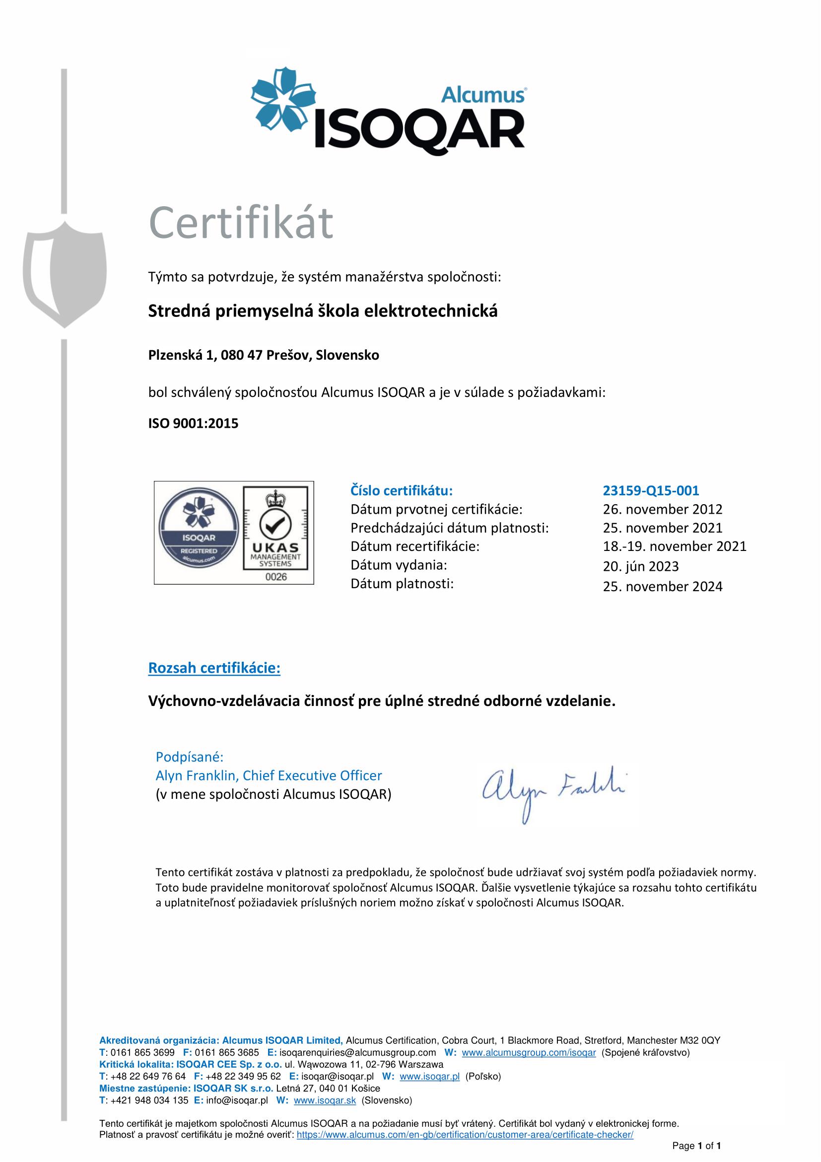 Najlepší elektronici z prešovskej SPŠE  - SPŠE Prešov ae4af910f10